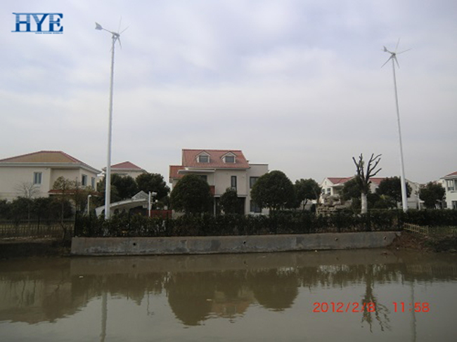 Shanghai, China, wind & solar hybrid home application system in 2012