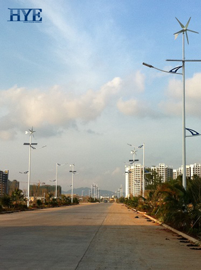 Tunchang, Hainan, wind & solar hybrid lighting system in 2012