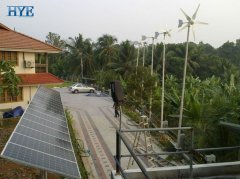 India wind & solar hybrid residential system project in