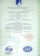 ISO-14001 - Certificate of Conformity of Enviroment Manageme