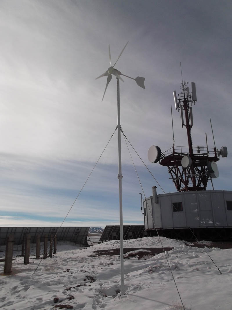 The first wind solar hybrid telecom station project in Outer Mongolia